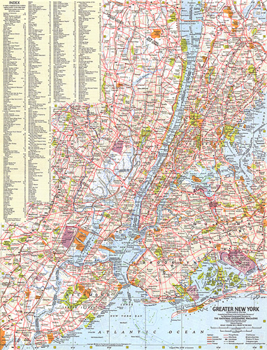 Map Of Greater New York City Area.Greater New York Map