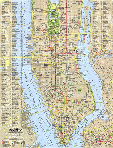 Tourist Manhattan Map