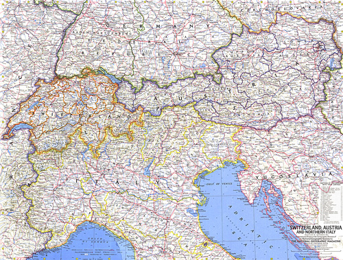 North Of Italy Map.Switzerland Austria And Northern Italy Map