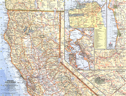 Northern California Map on