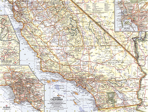 Southern California Map on