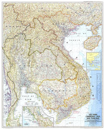 Vietnam Cambodia Laos And Thailand Map