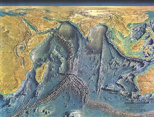 Topographic Map Of Ocean Floor.Indian Ocean Floor Map