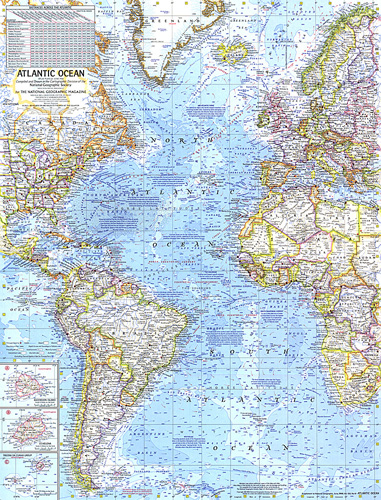 Map Of Atlantic Ocean Atlantic Ocean Map Map Of Atlantic Ocean