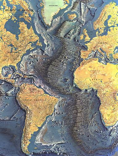 Atlantic Ocean Floor Map