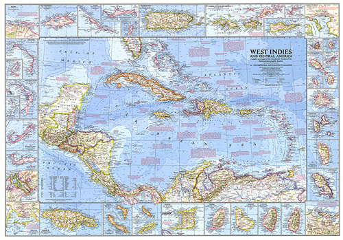 West Indies and Central America Map