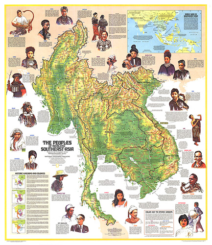 Peoples Of Mainland Southeast Asia Map