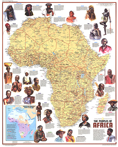 Peoples of Africa Map
