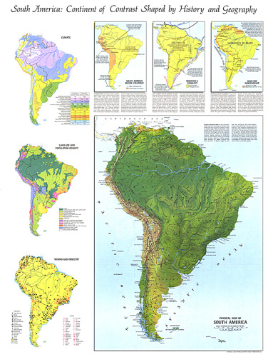 Physical Map Of South America Map - South america map physical