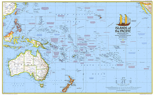 Map Of Pacific Islands of the Pacific Map