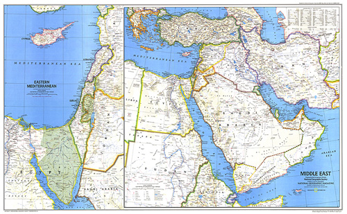 Middle East Map.Middle East Map