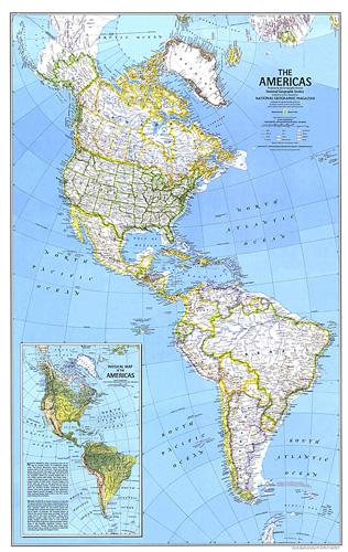 Map Of Americas The Americas Map Map Of Americas