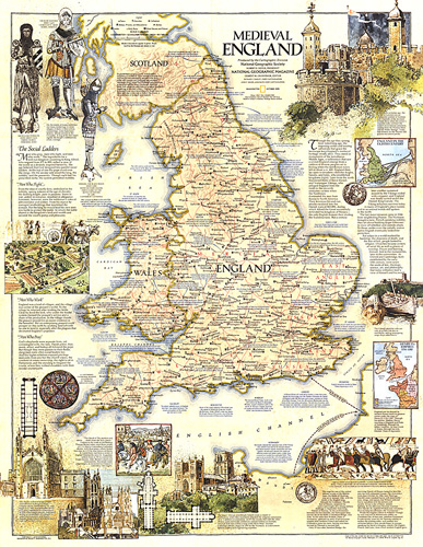 Medieval Map Of England Medieval England Map