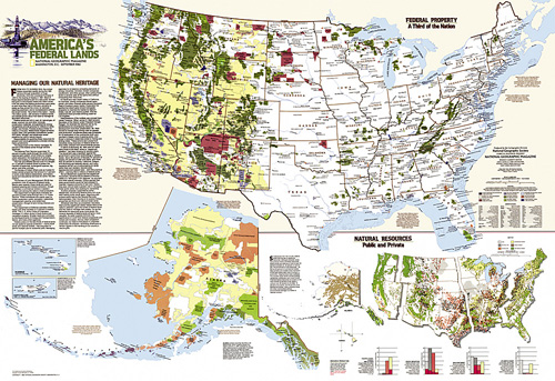 United States Federal Lands Map