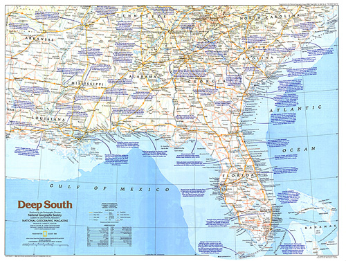 Deep South Map on