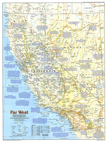 West Of America Map Making of America, Far West Map