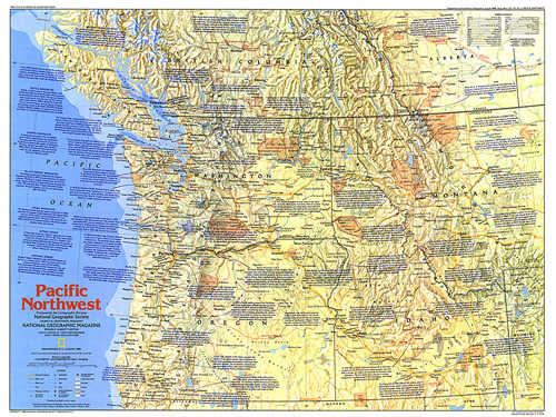 Map Of Pacific Northwest Pacific Northwest Map Side 1