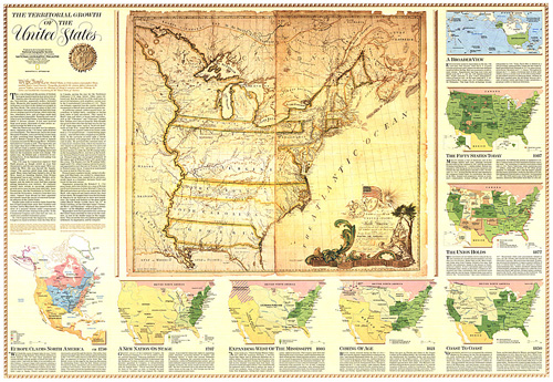 Territorial Growth Of The United States Map: Territorial Growth Of The United States Map At Usa Maps