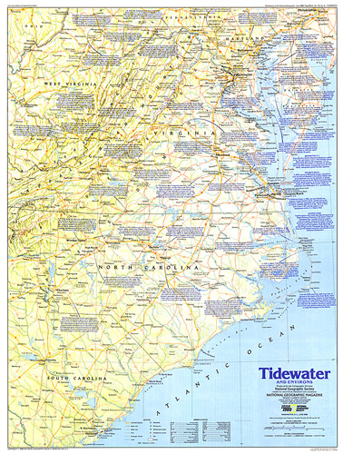 Tidewater and Environs Map