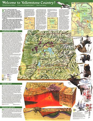 Yellowstone and Grand Teton Map Side 2