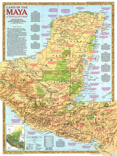 Land Of The Maya Map