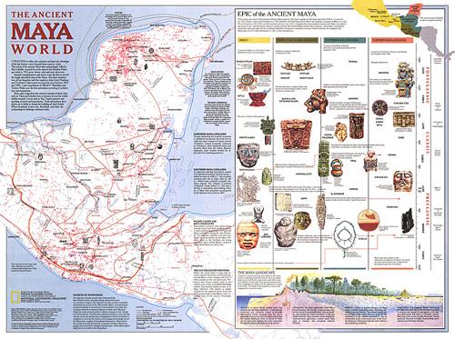 Ancient Maya World Map