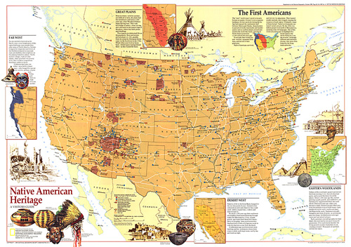 Native American Heritage Map