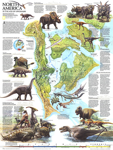 North america in the age of the dinosaurs map dinosaurs map zoom gumiabroncs Images