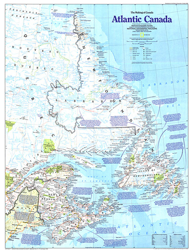 North America And Canada Map.Making Of Canada Atlantic Canada Map