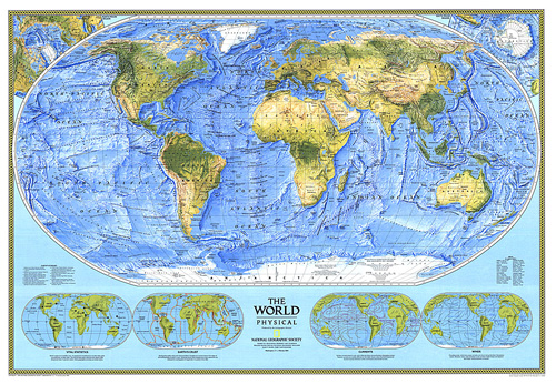 Resultado de imagen de PHSYSICAL MAP OF THE WORLD
