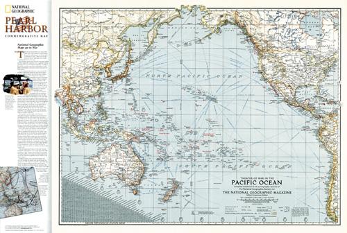Pacific Ocean Theater of War 1942 Map