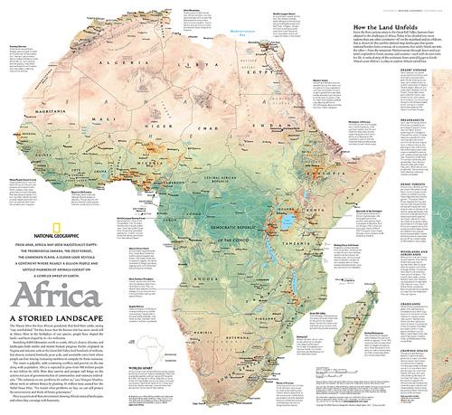 Africa A Storied Landscape Map