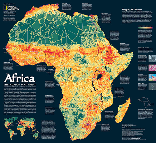 Africa, the Human Footprint Map