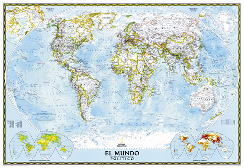 World Classic Spanish Map