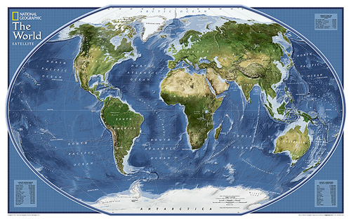 Map Of The World Satellite.World Explorer Satellite Map