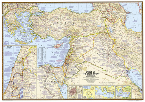 Lands of the Bible 1967 Map