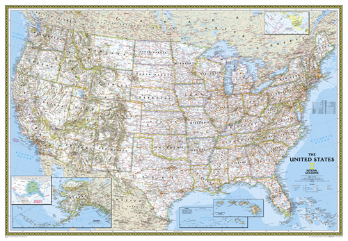 enlarged map of the united states United States Classic [Enlarged] Map