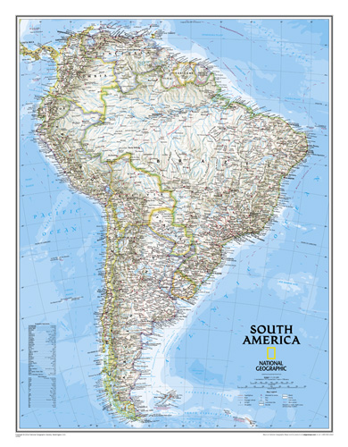 Cape Horn On South America Map.South America Classic