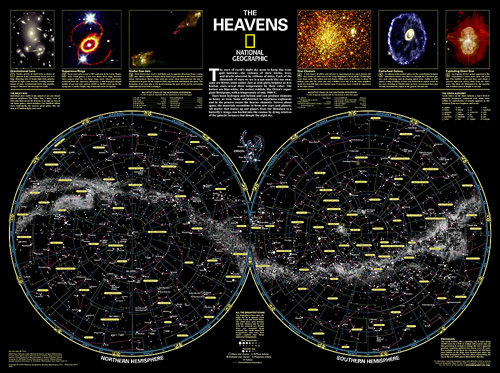 The Heavens [Laminated]