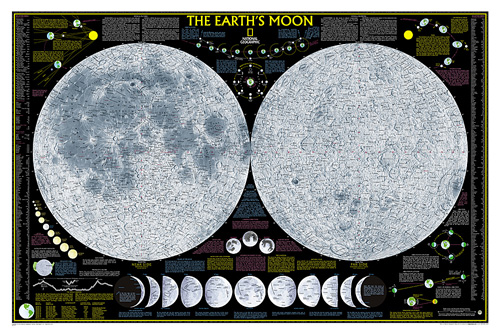 Earth's Moon [Laminated]