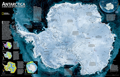 Antarctica Satellite [Laminated]