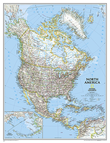 North America Classic [Enlarged and Laminated]