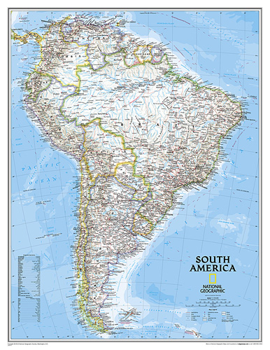 South America Classic [Enlarged and Laminated]