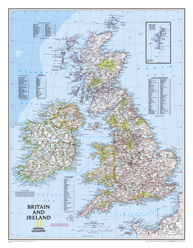 Britain and Ireland Classic [Laminated]