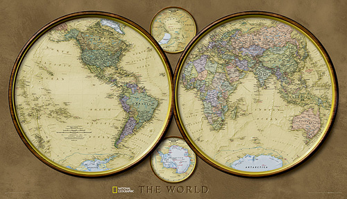 World Hemispheres [Laminated]