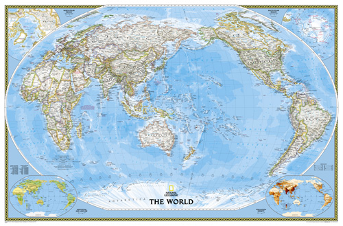 World Classic, Pacific Centered [Enlarged and Laminated]