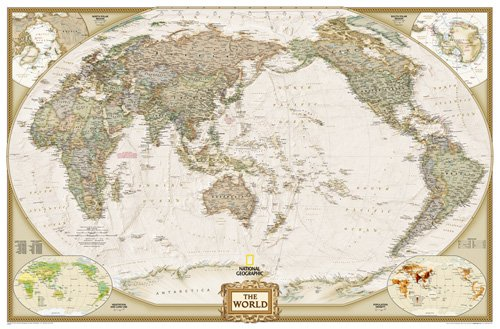 World Executive, Pacific Centered [Enlarged and Tubed]