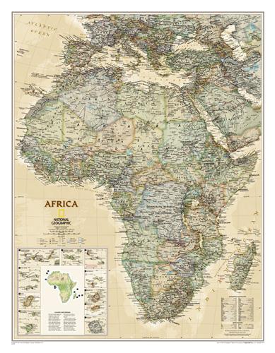 Africa Executive [Laminated]