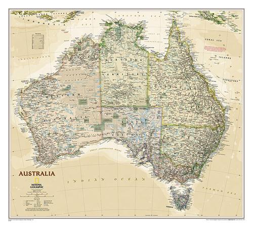 Australia Executive [Laminated]