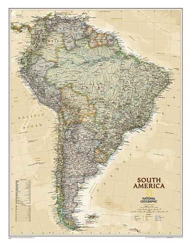 South America Executive [Laminated]